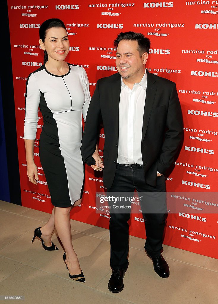 Actress Julianna Margulies and designer Narciso Rodriguez attend Narciso Rodriguez Kohl's Collection Launch Party at IAC Building on October 22, 2012 in New York City.