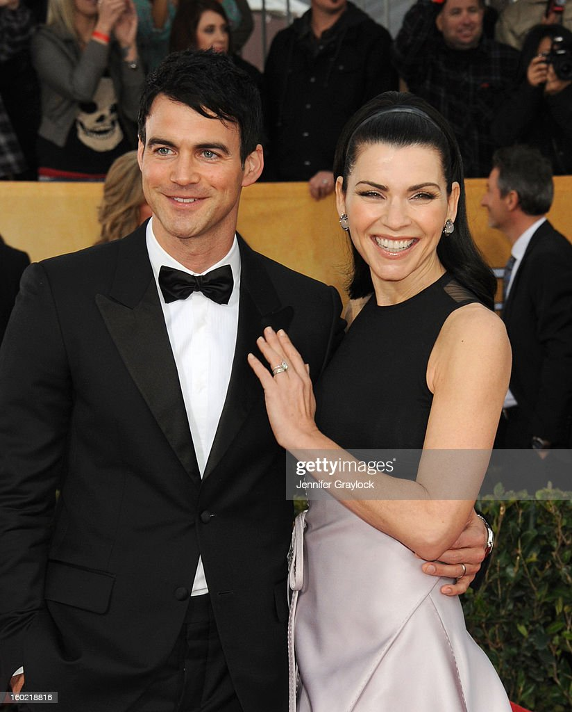 Actress Julianna Margulies (L) and her husband Keith Lieberthal arrive at the 19th Annual Screen Actors Guild Awards held at The Shrine Auditorium on January 27, 2013 in Los Angeles, California.