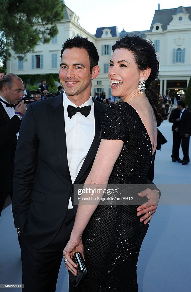 Actress Julianna Margulies and husband Keith Lieberthal arrive at the 2012 amfAR's Cinema Against AIDS during the 65th Annual Cannes Film Festival at...