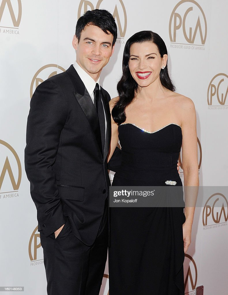 Actress Julianna Margulies (R) and husband Keith Lieberthal arrive at the 24th Annual Producers Guild Awards at The Beverly Hilton Hotel on January 26, 2013 in Beverly Hills, California.