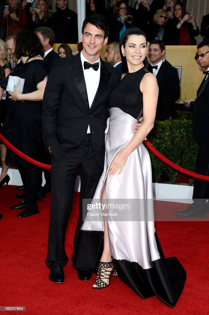 Actress Julianna Margulies (R) and husband Keith Lieberthal arrive at the 19th Annual Screen Actors Guild Awards held at The Shrine Auditorium on January 27, 2013 in Los Angeles, California.