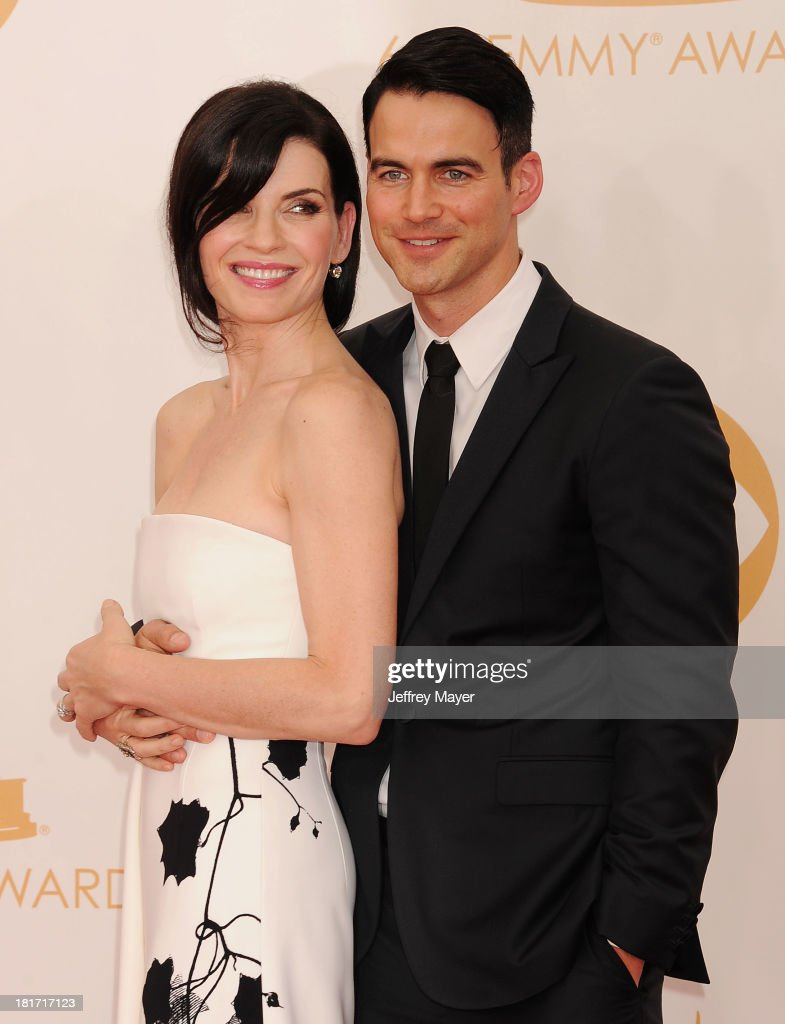 Actress Julianna Margulies and husband Keith Lieberthal arrive at the 65th Annual Primetime Emmy Awards at Nokia Theatre LA Live on September 22 2013...