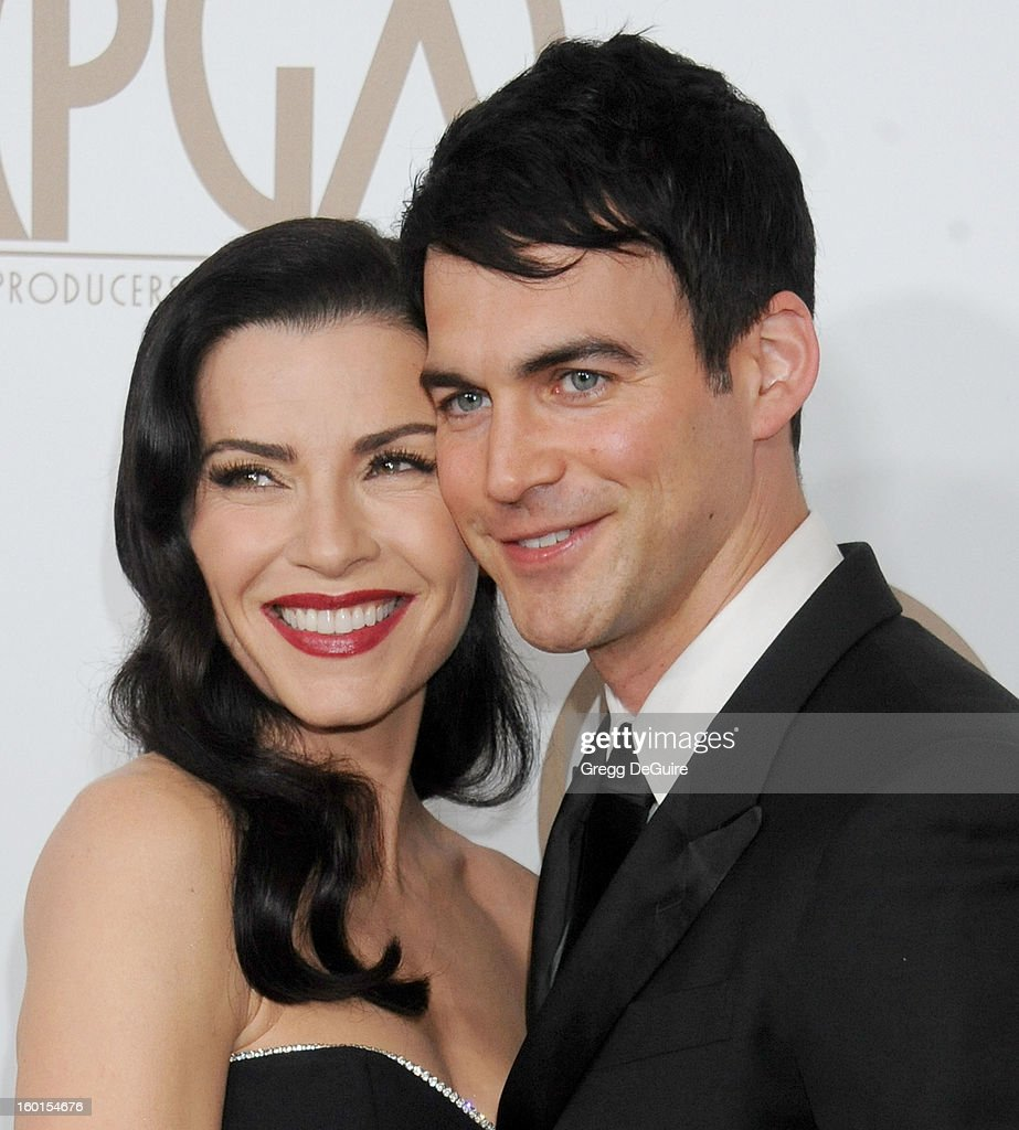 Actress Julianna Margulies and Keith Lieberthal arrive at the 24th Annual Producers Guild Awards at The Beverly Hilton Hotel on January 26, 2013 in Beverly Hills, California.