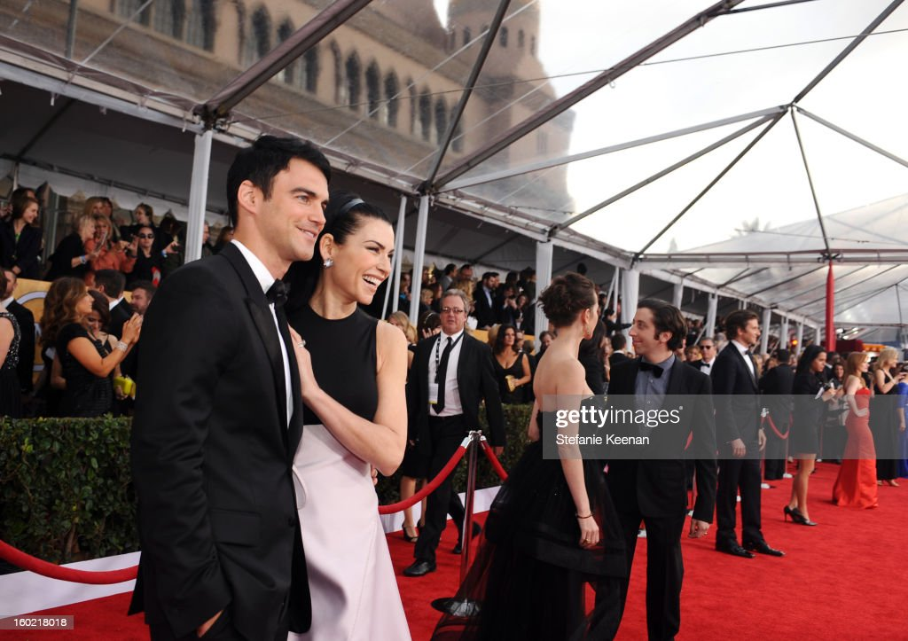 Actress Julianna Margulies (L) and Keith Lieberthal attend the 19th Annual Screen Actors Guild Awards at The Shrine Auditorium on January 27, 2013 in Los Angeles, California. (Photo by Stefanie Keenan/WireImage) 23116_025_1193.JPG