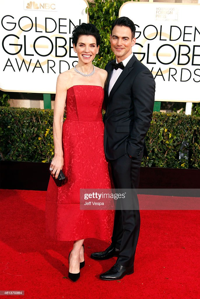 Actress Julianna Margulies and Keith Lieberthal attend the 72nd Annual Golden Globe Awards at The Beverly Hilton Hotel on January 11 2015 in Beverly...