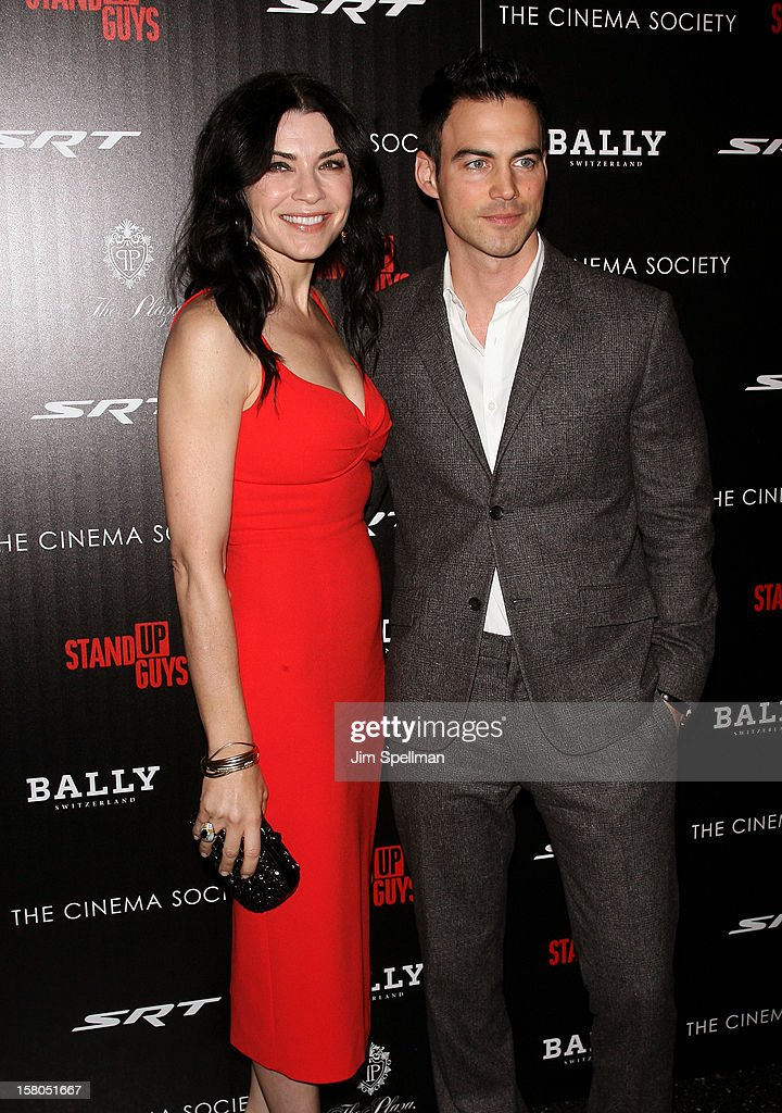 Actress Julianna Margulies and Keith Lieberthal attend The Cinema Society With Chrysler & Bally premiere of 'Stand Up Guys' at Museum of Modern Art on December 9, 2012 in New York City.