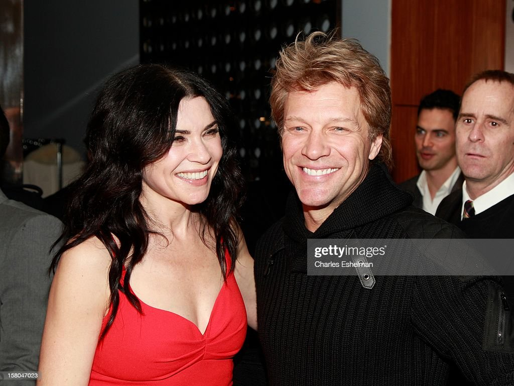 Actress Julianna Margulies and musician Jon Bon Jovi attend The Cinema Society With Chrysler & Bally Host The Premiere Of 'Stand Up Guys' at The Museum of Modern Art on December 9, 2012 in New York City.