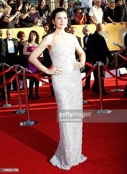Actress Julianna Margulies arrives at the 18th Annual Screen Actors Guild Awards held at The Shrine Auditorium on January 29 2012 in Los Angeles...