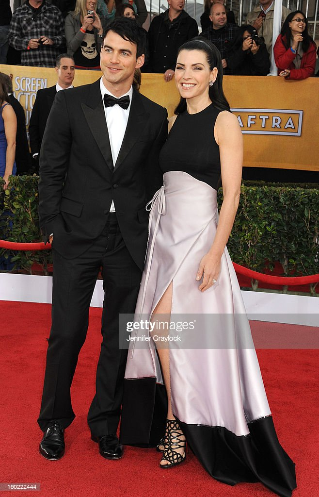 Actress Julianna Margulies arrives at the 19th Annual Screen Actors Guild Awards held at The Shrine Auditorium on January 27, 2013 in Los Angeles, California.
