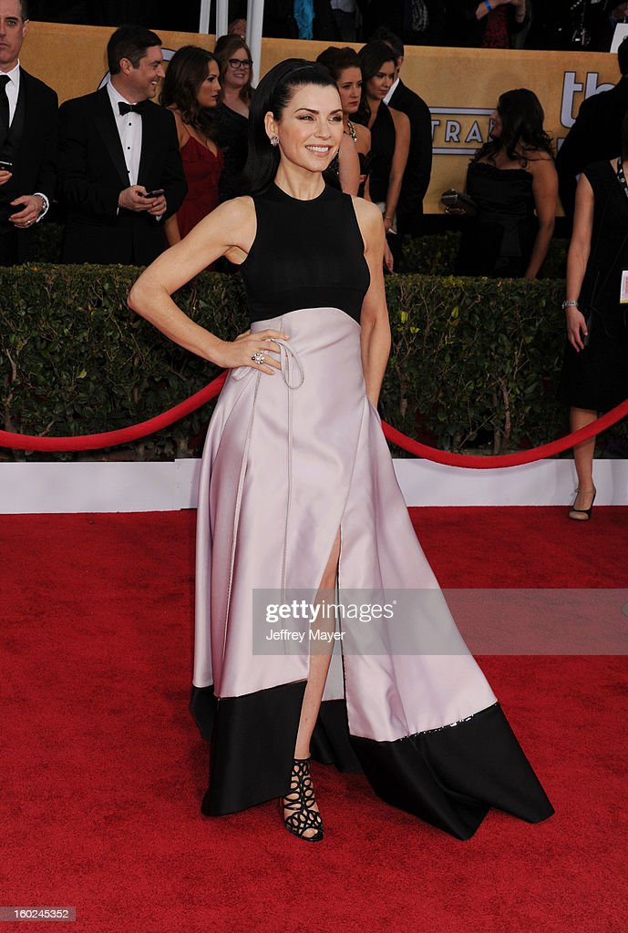 Actress Julianna Margulies arrives at the 19th Annual Screen Actors Guild Awards at The Shrine Auditorium on January 27, 2013 in Los Angeles, California.