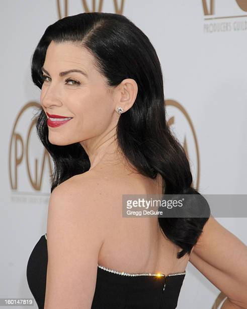 Actress Julianna Margulies arrives at the 24th Annual Producers Guild Awards at The Beverly Hilton Hotel on January 26 2013 in Beverly Hills...