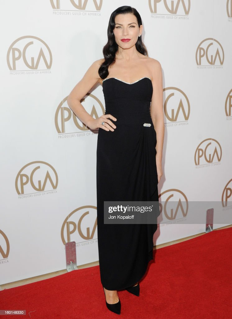 Actress Julianna Margulies arrives at the 24th Annual Producers Guild Awards at The Beverly Hilton Hotel on January 26, 2013 in Beverly Hills, California.