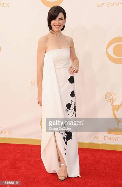 Actress Julianna Margulies arrives at the 65th Annual Primetime Emmy Awards at Nokia Theatre LA Live on September 22 2013 in Los Angeles California