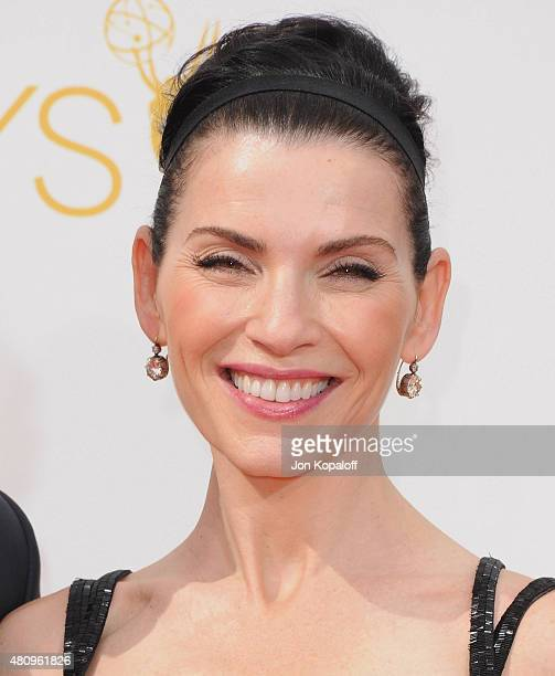 Actress Julianna Margulies arrives at the 66th Annual Primetime Emmy Awards at Nokia Theatre LA Live on August 25 2014 in Los Angeles California