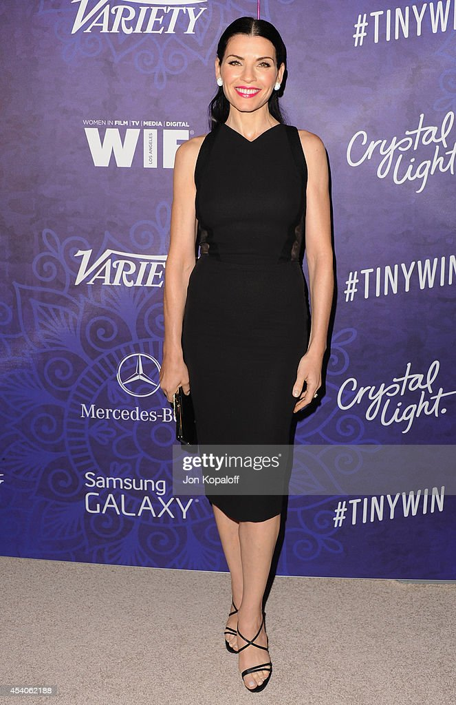 Actress Julianna Margulies arrives at Variety And Women In Film Annual PreEmmy Celebration at Gracias Madre on August 23 2014 in West Hollywood...