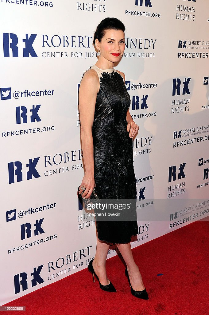 Actress <a gi-track='captionPersonalityLinkClicked' href=/galleries/search?phrase=Julianna+Margulies&family=editorial&specificpeople=208994 ng-click='$event.stopPropagation()'>Julianna Margulies</a> attends Robert F. Kennedy Center For Justice And Human Rights 2013 Ripple Of Hope Awards Dinner at New York Hilton Midtown on December 11, 2013 in New York City.