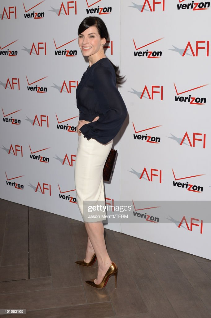 Actress Julianna Margulies attends the 14th annual AFI Awards Luncheon at the Four Seasons Hotel Beverly Hills on January 10 2014 in Beverly Hills...