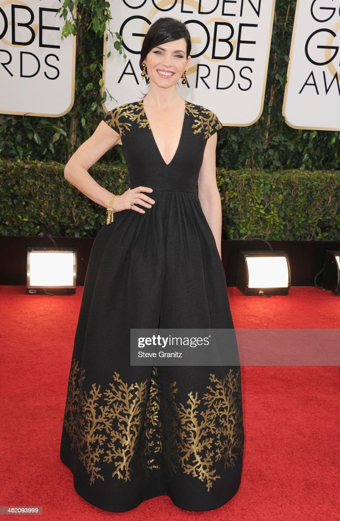 Actress Julianna Margulies attends the 71st Annual Golden Globe Awards held at The Beverly Hilton Hotel on January 12 2014 in Beverly Hills California