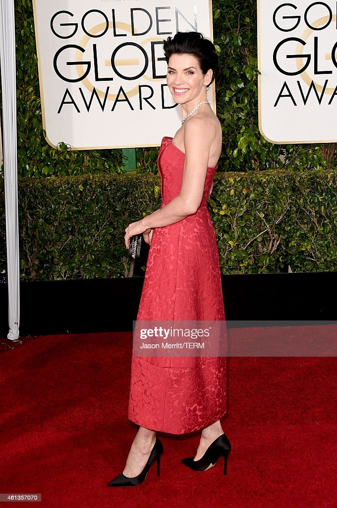 Actress Julianna Margulies attends the 72nd Annual Golden Globe Awards at The Beverly Hilton Hotel on January 11 2015 in Beverly Hills California