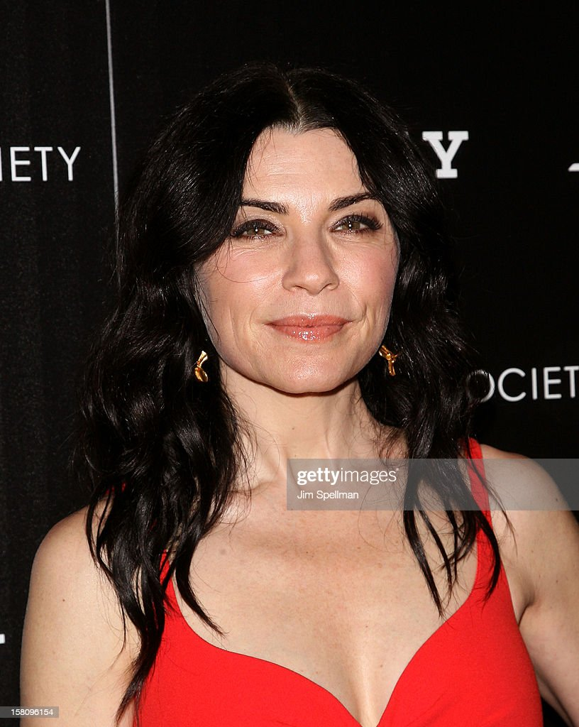 Actress Julianna Margulies attends The Cinema Society With Chrysler & Bally premiere of 'Stand Up Guys' at Museum of Modern Art on December 9, 2012 in New York City.