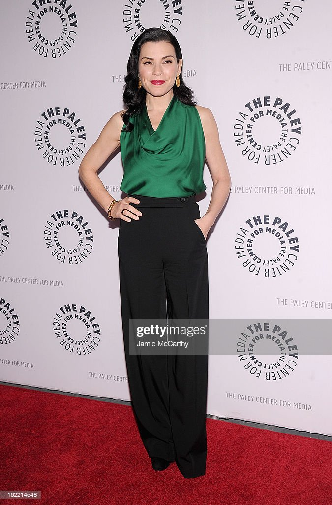 Actress <a gi-track='captionPersonalityLinkClicked' href=/galleries/search?phrase=Julianna+Margulies&family=editorial&specificpeople=208994 ng-click='$event.stopPropagation()'>Julianna Margulies</a> attends The Paley Center For Media Presents: 'She's Making Media: <a gi-track='captionPersonalityLinkClicked' href=/galleries/search?phrase=Julianna+Margulies&family=editorial&specificpeople=208994 ng-click='$event.stopPropagation()'>Julianna Margulies</a>' at Paley Center For Media on February 20, 2013 in New York City.