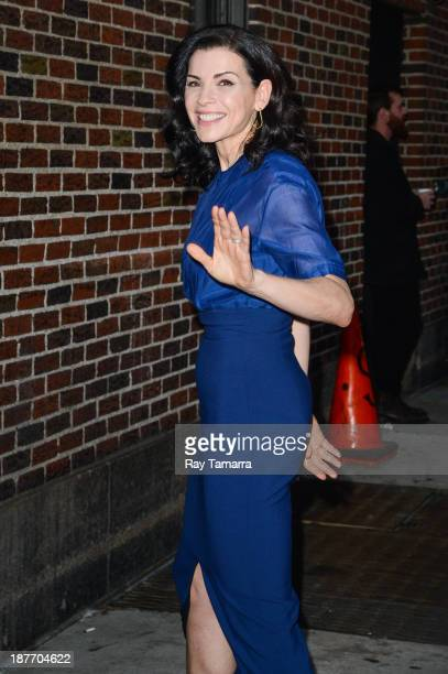 Actress Julianna Margulies enters the 'Late Show With David Letterman' taping at the Ed Sullivan Theater on November 11 2013 in New York City
