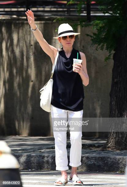 Actress Julianna Margulies is seen stopping cab in Soho n June 13 2017 in New York City