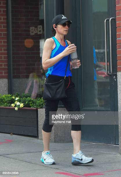Actress Julianna Margulies is seen walking in Soho on June 13 2017 in New York City
