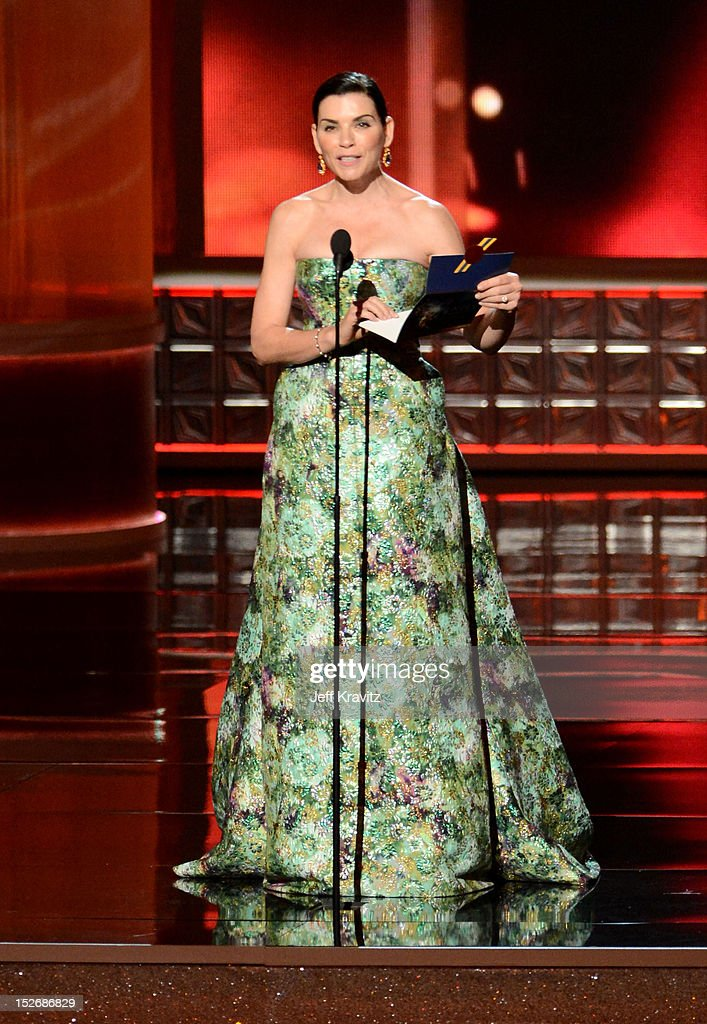 Actress Julianna Margulies onstage during the 64th Primetime Emmy Awards at Nokia Theatre L.A. Live on September 23, 2012 in Los Angeles, California.