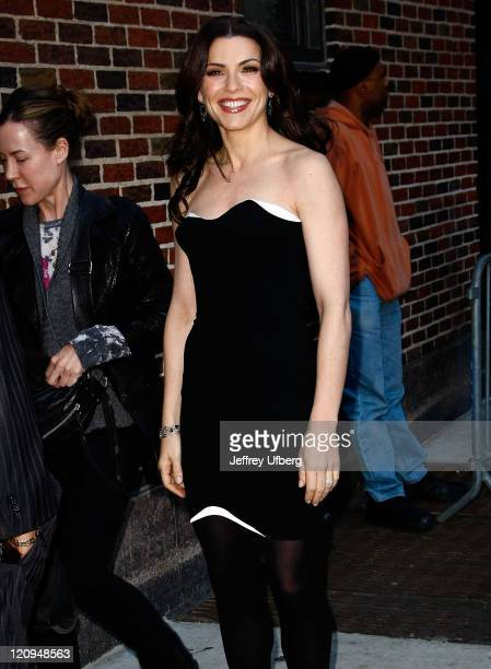 Actress Julianna Margulies visits the 'Late Show With David Letterman' at the Ed Sullivan Theater on March 9 2010 in New York City