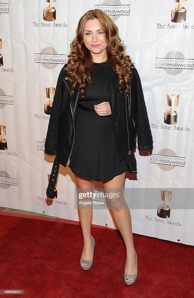 Actress Julianna Rose arrives at the 41st Annual Annie Awards at Royce Hall, UCLA on February 1, 2014 in Westwood, California.