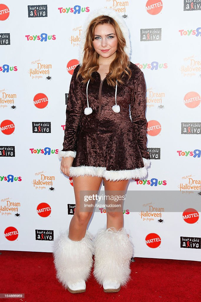 Actress Julianna Rose attends the 2012 'Dream Halloween' presented by Keep A Child Alive at Barker Hangar on October 27, 2012 in Santa Monica, California.