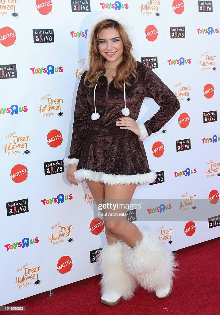 Actress Julianna Rose attends the Keep A Child Alive 2012 Dream Halloween Los Angeles charity event at Barker Hangar on October 27, 2012 in Santa Monica, California.