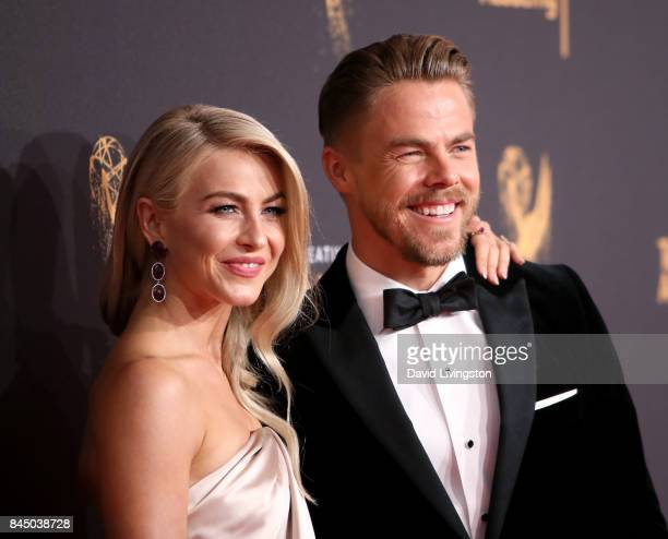 Actress Julianne Hough and dancer Derek Hough attend the 2017 Creative Arts Emmy Awards at Microsoft Theater on September 9 2017 in Los Angeles...