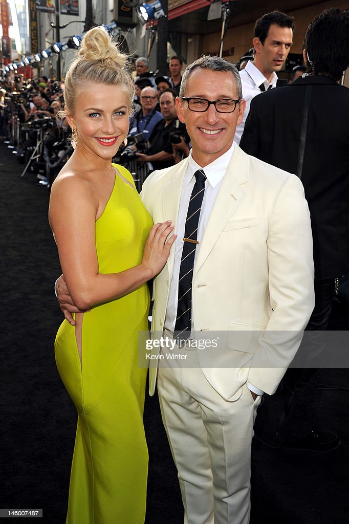 Actress <a gi-track='captionPersonalityLinkClicked' href=/galleries/search?phrase=Julianne+Hough&family=editorial&specificpeople=4237560 ng-click='$event.stopPropagation()'>Julianne Hough</a> and director <a gi-track='captionPersonalityLinkClicked' href=/galleries/search?phrase=Adam+Shankman&family=editorial&specificpeople=1295239 ng-click='$event.stopPropagation()'>Adam Shankman</a> arrive at the premiere of Warner Bros. Pictures' 'Rock of Ages' at Grauman's Chinese Theatre on June 8, 2012 in Hollywood, California.