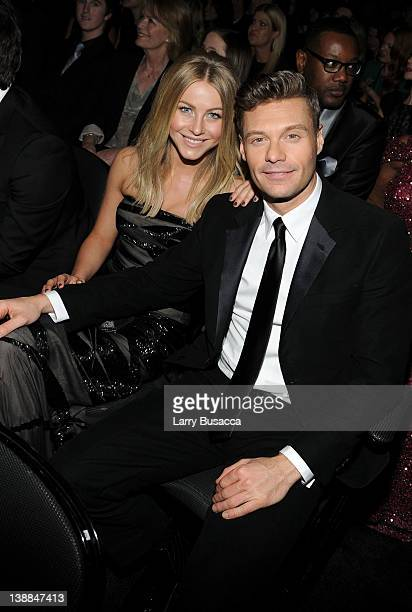 Actress Julianne Hough and Media Personality Ryan Seacrest attend the 54th Annual GRAMMY Awards held at Staples Center on February 12 2012 in Los...