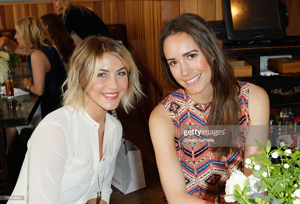Actress Julianne Hough (L) and Tv Personality Louise Roe attend the Paper Denim & Cloth and Baby2Baby Luncheon at Son Of A Gun on June 11, 2013 in Los Angeles, California.
