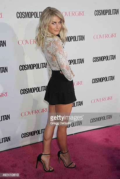 Actress Julianne Hough arrives at Cosmopolitan Magazine's 50th Birthday Celebration at Ysabel on October 12 2015 in West Hollywood California