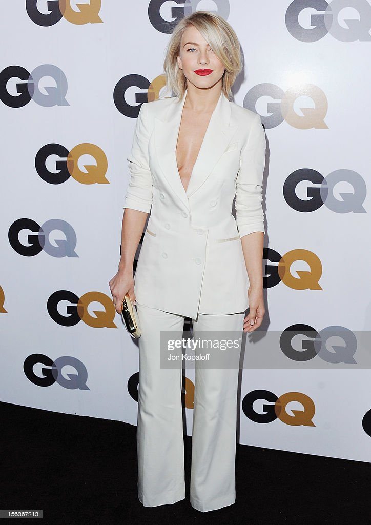 Actress <a gi-track='captionPersonalityLinkClicked' href=/galleries/search?phrase=Julianne+Hough&family=editorial&specificpeople=4237560 ng-click='$event.stopPropagation()'>Julianne Hough</a> arrives at GQ Men Of The Year Party at Chateau Marmont on November 13, 2012 in Los Angeles, California.