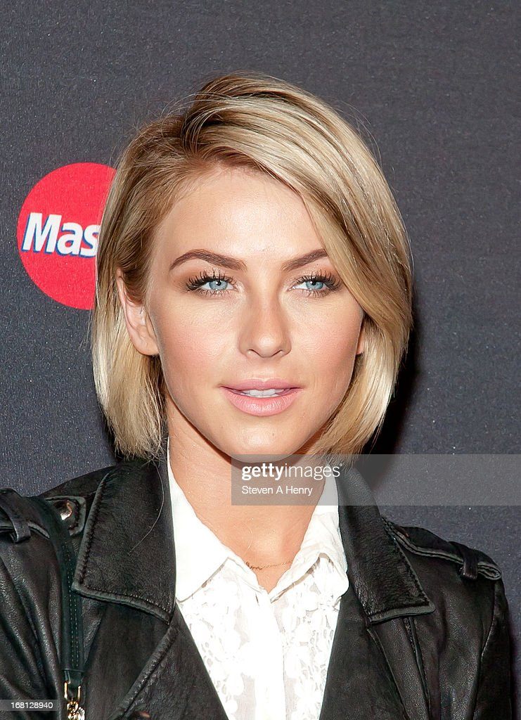 Actress <a gi-track='captionPersonalityLinkClicked' href=/galleries/search?phrase=Julianne+Hough&family=editorial&specificpeople=4237560 ng-click='$event.stopPropagation()'>Julianne Hough</a> arrives at MasterCard Priceless Premieres Presents Justin Timberlake Roseland Ballroom on May 5, 2013 in New York City.