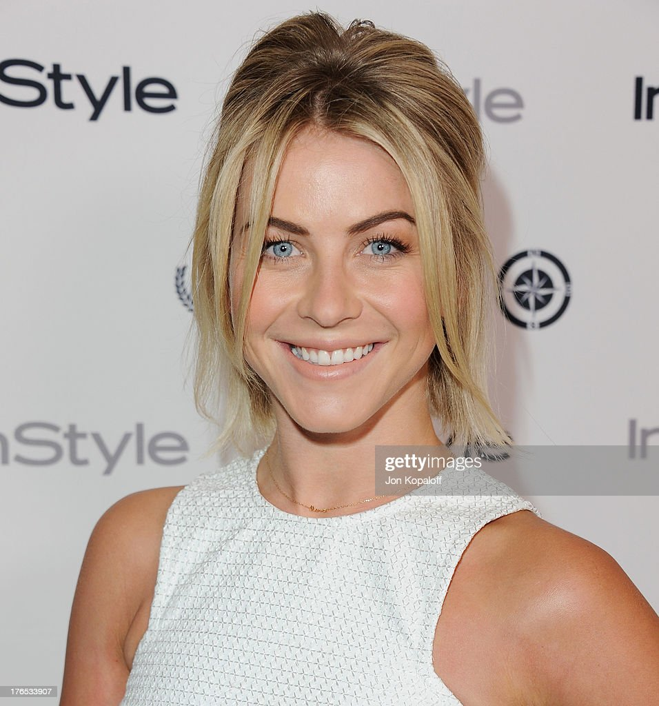 Actress <a gi-track='captionPersonalityLinkClicked' href=/galleries/search?phrase=Julianne+Hough&family=editorial&specificpeople=4237560 ng-click='$event.stopPropagation()'>Julianne Hough</a> arrives at the 13th Annual InStyle Summer Soiree at Mondrian Los Angeles on August 14, 2013 in West Hollywood, California.