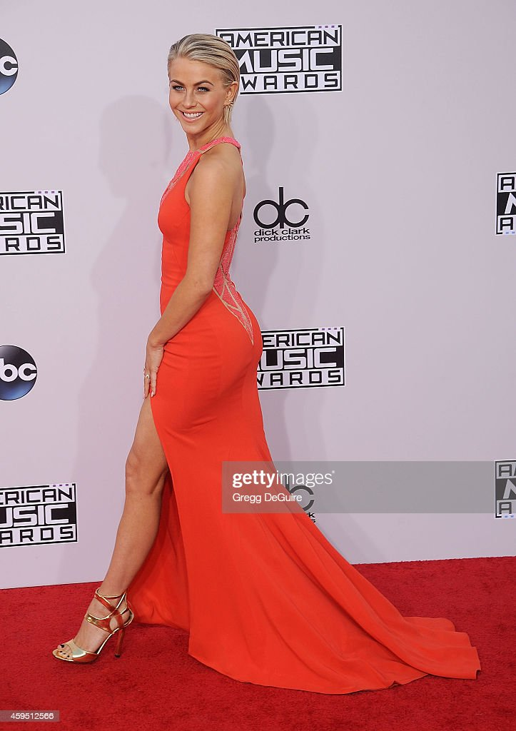 Actress Julianne Hough arrives at the 2014 American Music Awards at Nokia Theatre LA Live on November 23 2014 in Los Angeles California