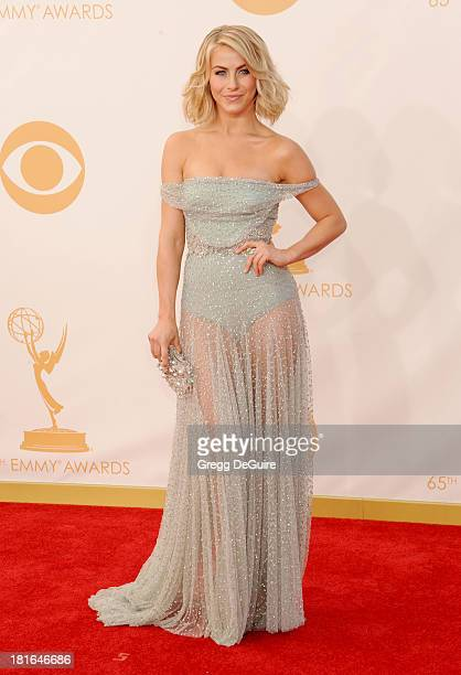 Actress Julianne Hough arrives at the 65th Annual Primetime Emmy Awards at Nokia Theatre LA Live on September 22 2013 in Los Angeles California