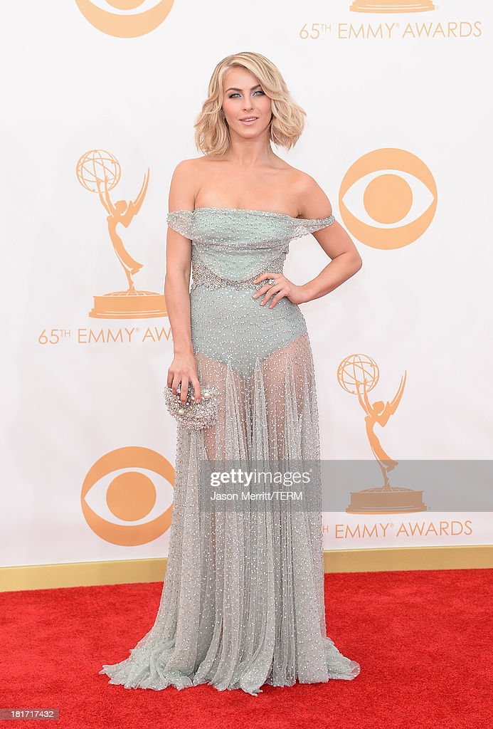 Actress Julianne Hough arrives at the 65th Annual Primetime Emmy Awards held at Nokia Theatre L.A. Live on September 22, 2013 in Los Angeles, California.