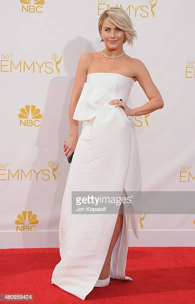 Actress Julianne Hough arrives at the 66th Annual Primetime Emmy Awards at Nokia Theatre LA Live on August 25 2014 in Los Angeles California