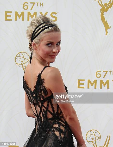 Actress Julianne Hough arrives at the 67th Annual Primetime Emmy Awards at the Microsoft Theater on September 20 2015 in Los Angeles California