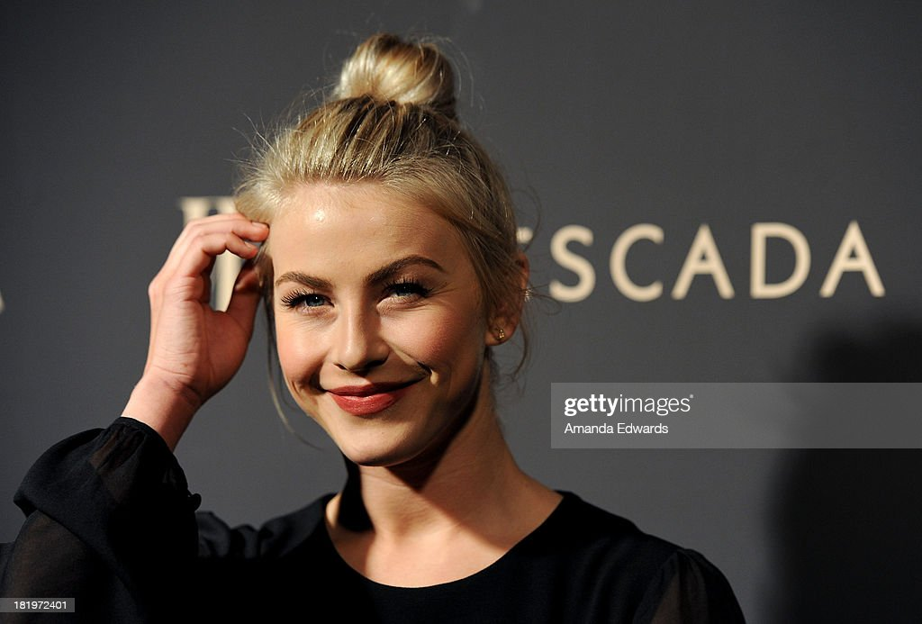 Actress <a gi-track='captionPersonalityLinkClicked' href=/galleries/search?phrase=Julianne+Hough&family=editorial&specificpeople=4237560 ng-click='$event.stopPropagation()'>Julianne Hough</a> arrives at the Escada and W Magazine shopping event benefiting the Cool Earth Organization at Escada Boutique on September 26, 2013 in Beverly Hills, California.