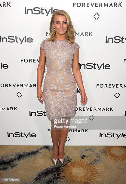 Actress Julianne Hough arrives at the Forevermark And InStyle's 'A Promise Of Beauty And Brilliance' Golden Globe Awards Event at Beverly Hills Hotel...
