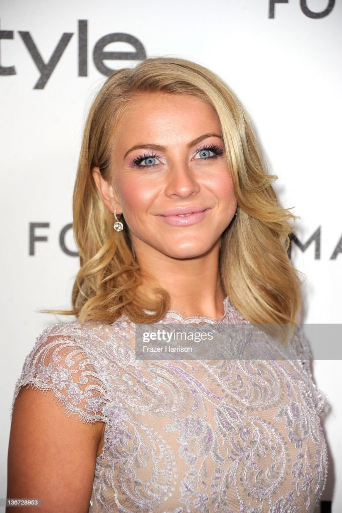 Actress <a gi-track='captionPersonalityLinkClicked' href=/galleries/search?phrase=Julianne+Hough&family=editorial&specificpeople=4237560 ng-click='$event.stopPropagation()'>Julianne Hough</a> arrives at the Forevermark And InStyle's 'A Promise Of Beauty And Brilliance' Golden Globe Awards Event at Beverly Hills Hotel on January 10, 2012 in Beverly Hills, California.