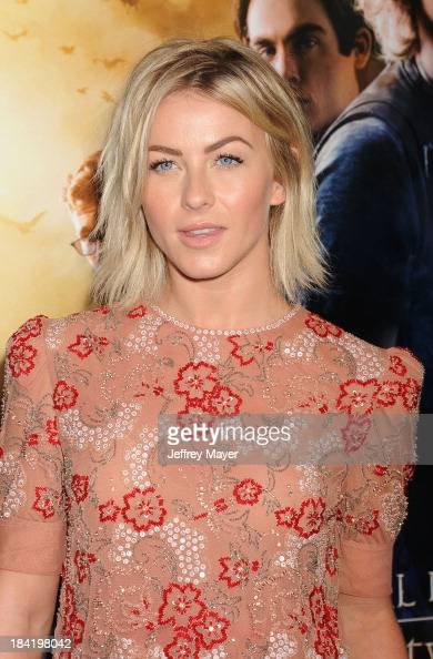 Actress Julianne Hough arrives at the Los Angeles premiere of 'The Mortal Instruments City Of Bones' at ArcLight Cinemas Cinerama Dome on August 12...